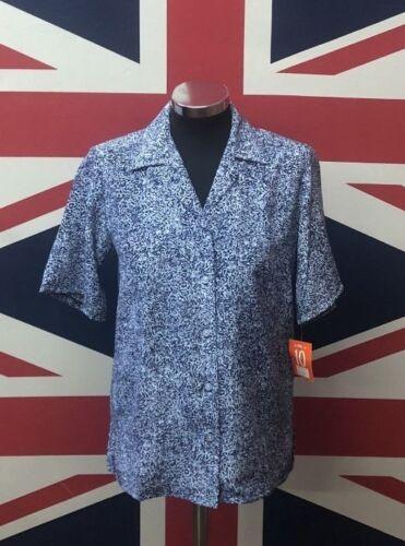 Formal Wear Casual Wear !!BUY ONE GET ONE FREE!! New Ladies Blue Print Blouse