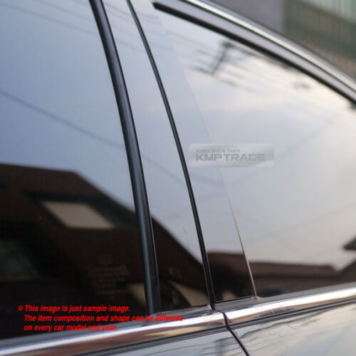 Glossy Black B C Pillar Post UV Coating Cover Trim 8Pcs For JEEP 07-16 Compass