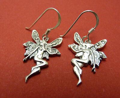 Sterling Silver Art Nouveau Design Fairy Earrings.