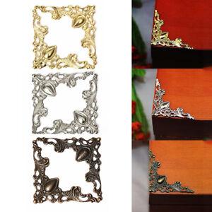 retro metal jewelry gift box frame album scrapbook corner protector