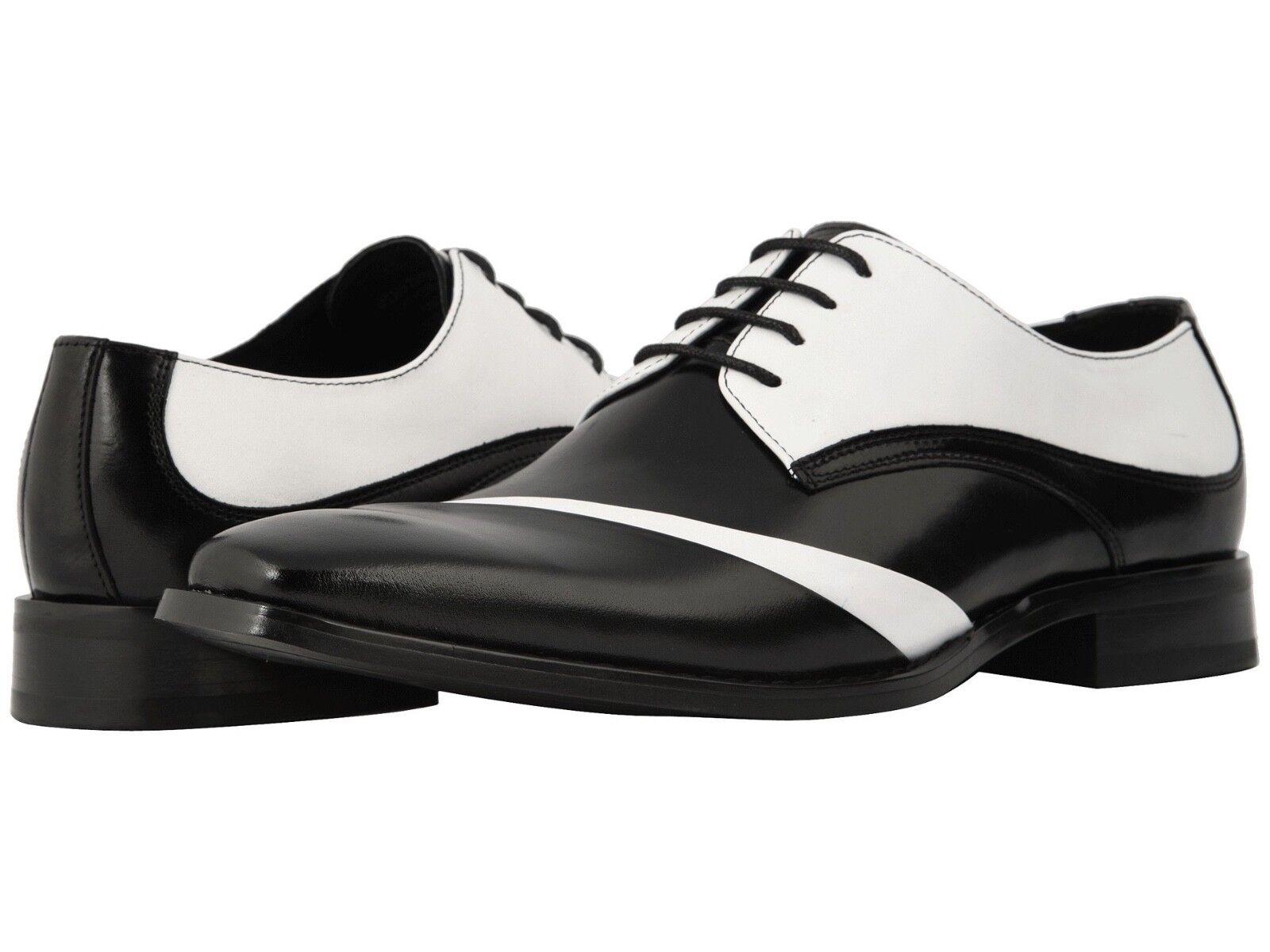 Stacy Adams Talmadge Men's Folded Vamp Dress shoes Black Black Black White 25193-111 29c930