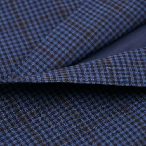 Nwt Sport Blue Canali 1695 S Travel' Wool Coat 'natural 36 Check Comfort SrS4qw68x