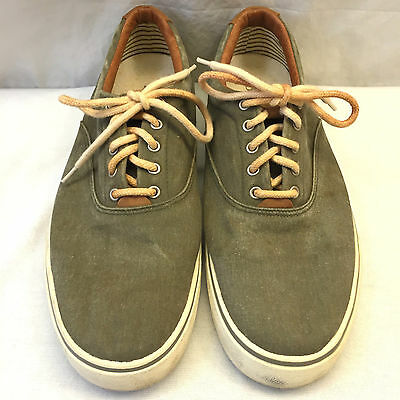 gh bass sneakers canvas mens size 115 m olive lace up