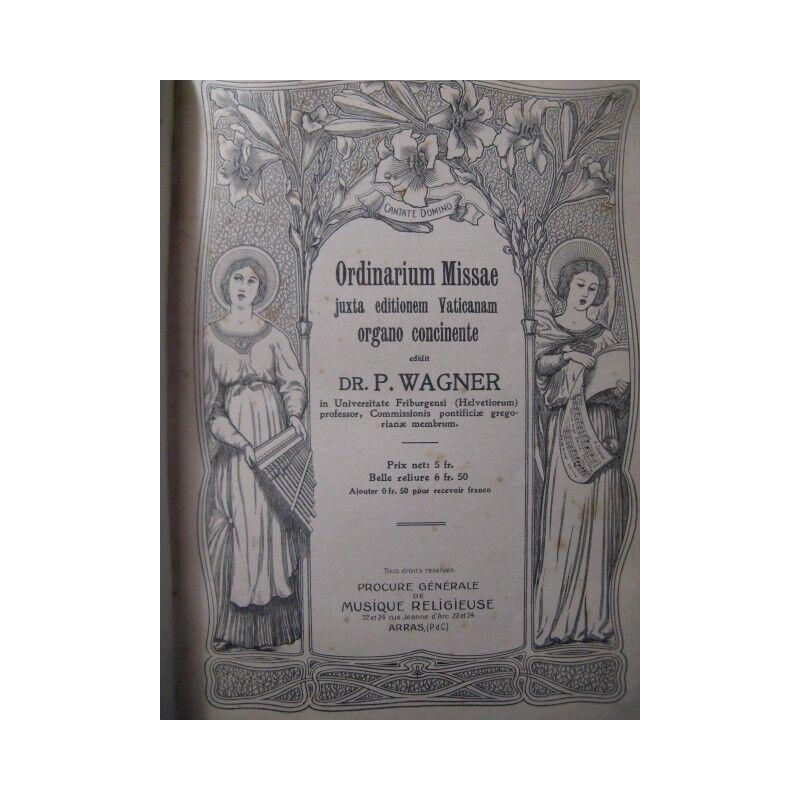 WAGNER P. Gradual Romanum-Orgel ca1905 Partitur sheet music score