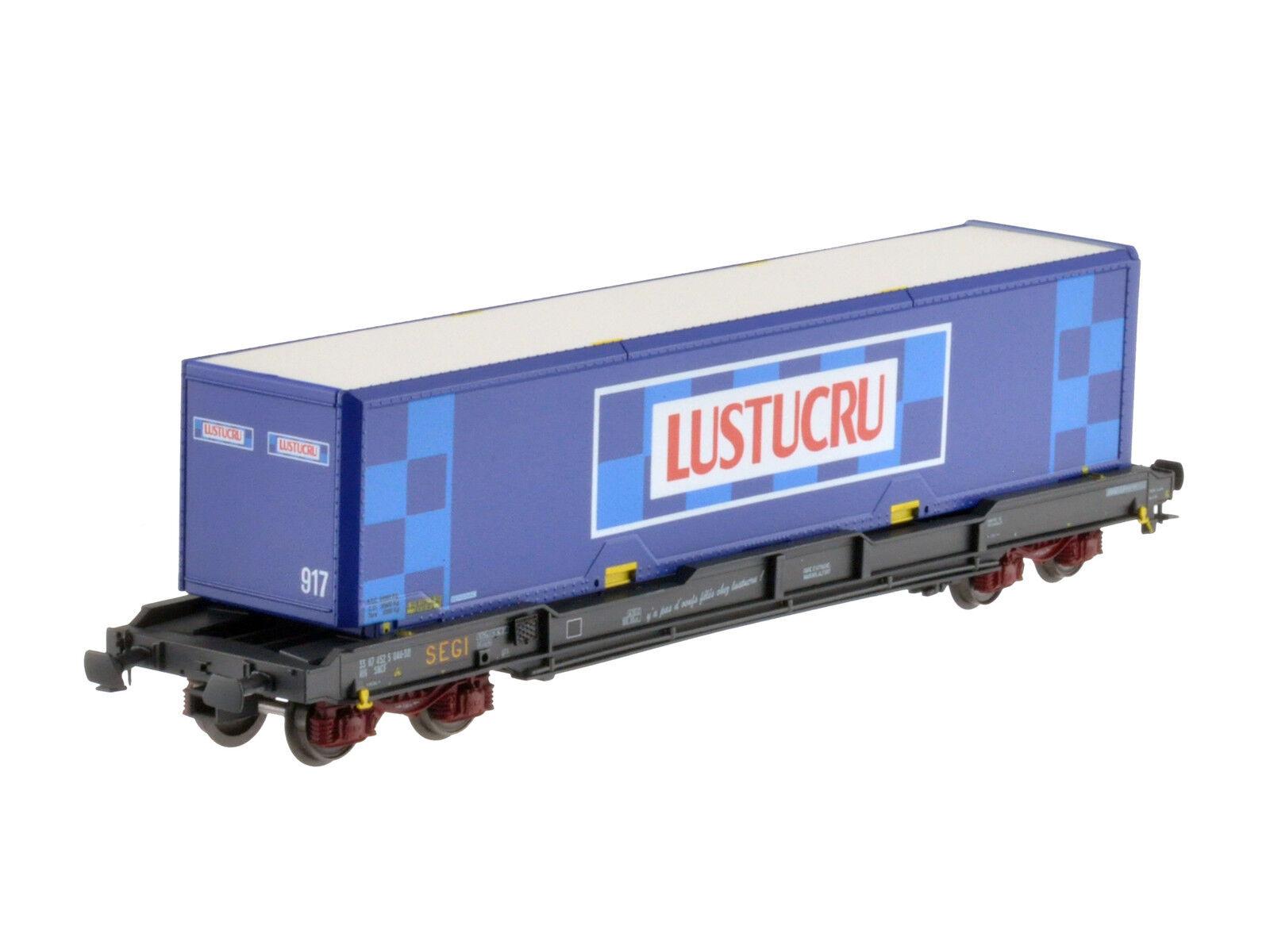 LS Models 30317 SNCF 4 ACH containertragwg Ku SEGI 40' Lustrucu ep5 NUOVO + OVP