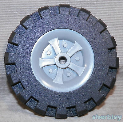 K/'Nex Wheels Gray Pulley Tire Insert /& Black Tire 1 5//8 REPLACEMENT PARTS