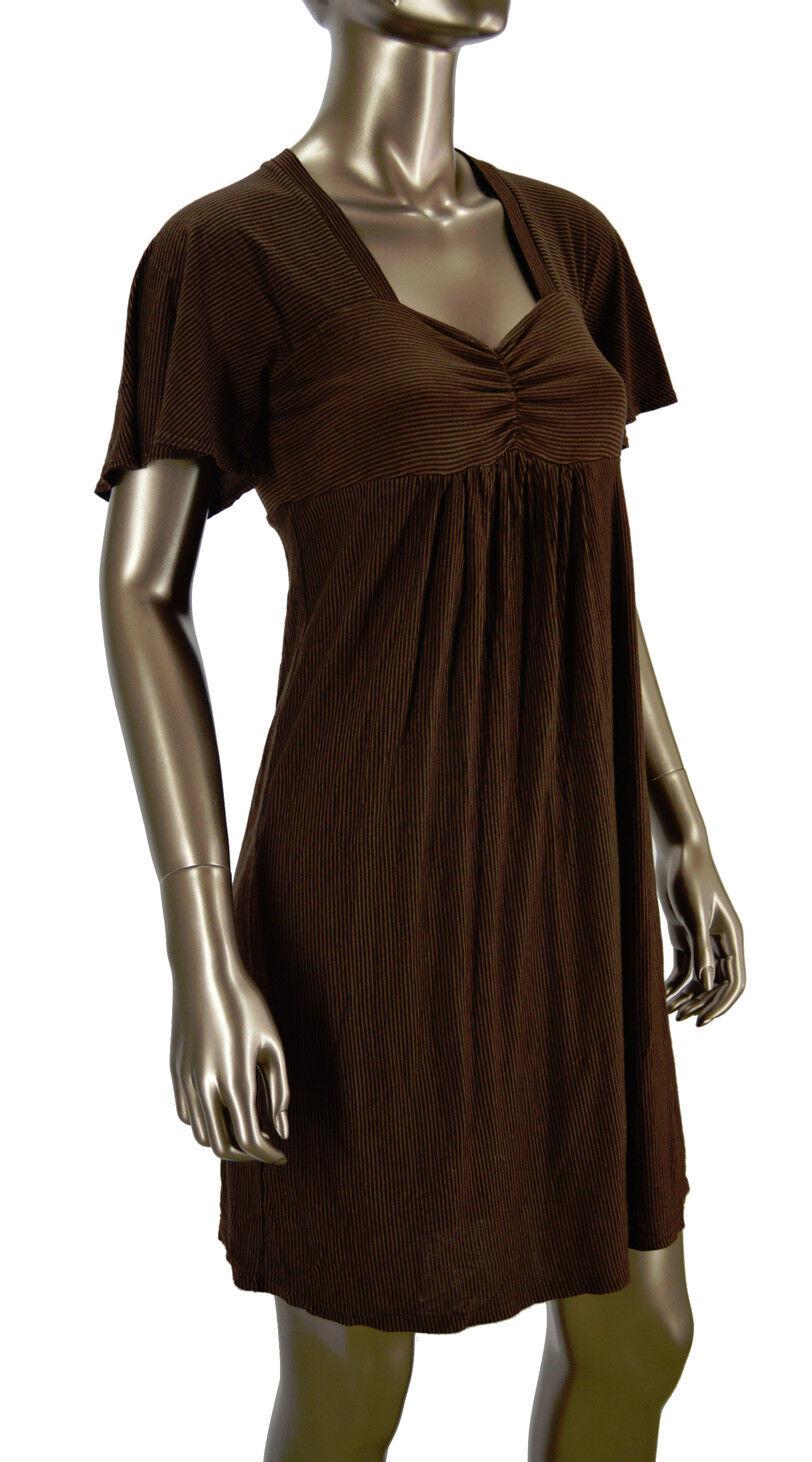 NWT Anthropologie Ella Moss Chestnut James Stripe Dress M