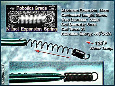 NITINOL 55 Finest Robotics Grade Trigger Springs Certified <120°F Reaction x 3pc