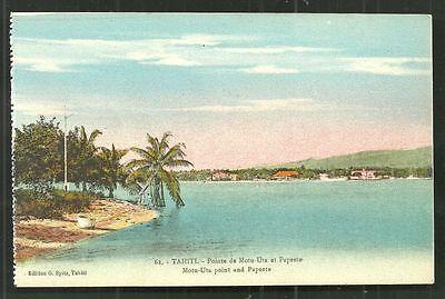 Tahiti Motu Uta Papeete Spitz French Polynesia ca 1910