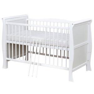 Babybett Kinderbett Juniorbett umbaubar Weiß Massivholz 140x70 NEU ...