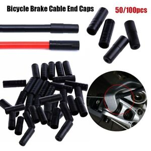 Black Outer Cable Cover Shift//Brake Cap Caps Tips Crimps Bicycle Brake Gear