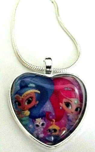 SHIMMER AND SHINE HEART 25 MM NECKLACE 18 INCH 4 TO 6 Y GIFT BOX PARTY BIRTHDAY