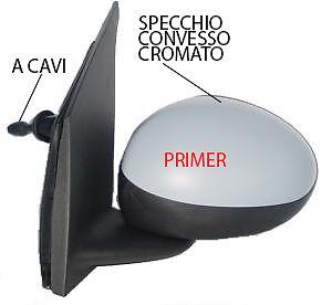 SPECCHIO SPECCHIETTO RETROVISORE DESTRO CITROEN C1 2005-2014 A CAVI PRIMER