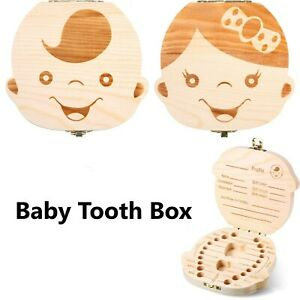 Baby-Tooth-Box-Cute-Boy-Girl-Teeth-Keepsakes-Holder-Wooden-Storage-Box-AU