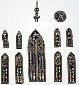 Church-Window-Spire-Tip-Pack-A117-UNPAINTED-N-Gauge-Scale-Langley-Models-Kit