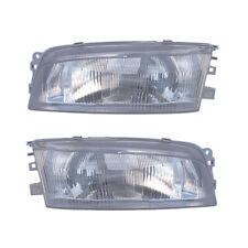 Headlights Front Lamps Pair Set For 97 02 Mitsubishi Mirage Sedan Left Amp Right Fits 1999 Mitsubishi Mirage