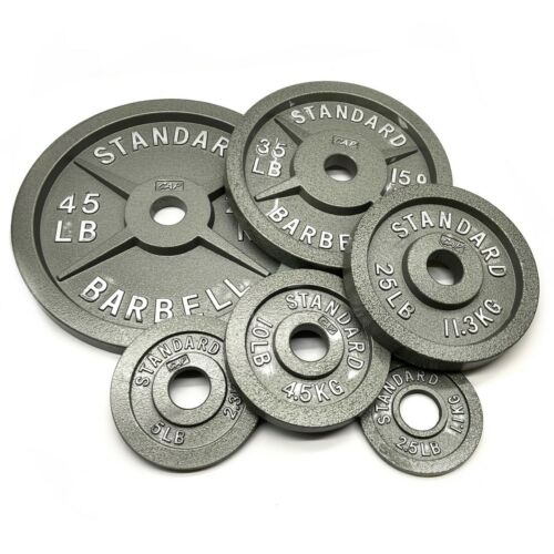 """2x New Classic Barbell Olympic Weight 2/"""" Standard Plate 45lbs Bar Bell Weights"""