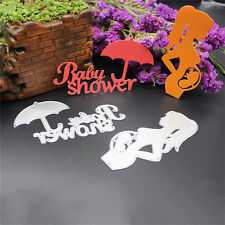 Metal Girl&Umbrella Cutting Dies Stencil DIY Scrapbooking Diary Template Decor