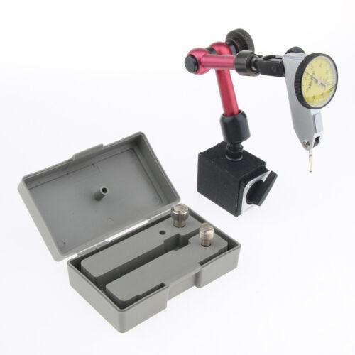 Magnetic Base Holding Dial Adjustable Test Indicator Holder with Indicator