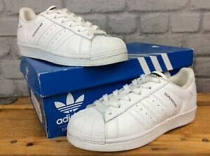 ADIDAS-UK-5-EU-38-SUPERSTAR-WHITE-BLACK-REPTILE-TRAINERS-LG-CHILDRENS-LADIES