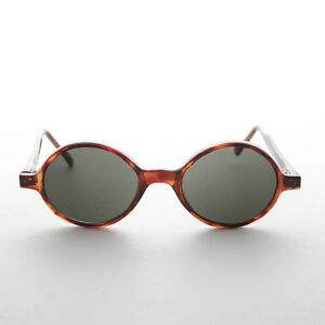 478d71ea8 Image is loading Mod-Vintage-Sunglasses-Round-Brown-Tortoiseshell-Frame-and-