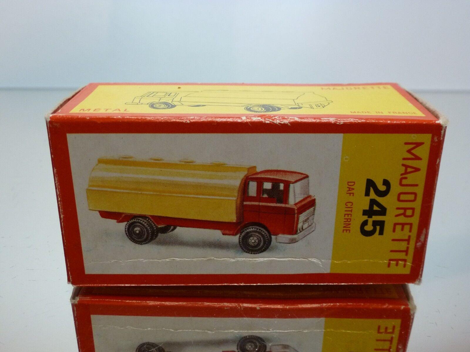 MAJORETTE 245 BOX for DAF 2600 TANKER TRUCK - CITERNE 1 100 - ONLY BOX