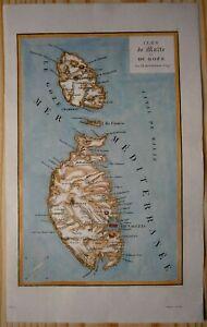 1848-Duvotenay-map-MALTA-1