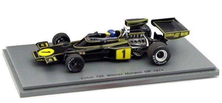 vendiendo bien en todo el mundo Lotus 72E 72E 72E  GP Monaco  nº 1 Ronnie Peterson 1974 Spark S4835 1 43      Obtén lo ultimo