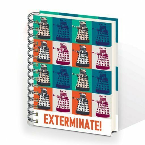 *NEW* Dr Doctor Who DALEK EXTERMINATE Hardcover Ringbound A5 Lined Notebook