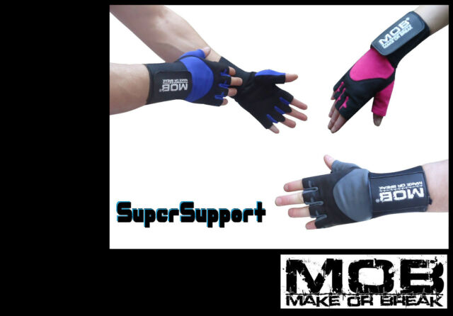 MOB 2-in-1 Leather Weight Lifting gym Gloves - high quality lifting gym gloves