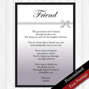 Image Is Loading Friends Gift Personalised Birthday Best Friend Keepsake