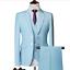 miniature 10 - Mens Suits Sets 3 Pcs Slim Fit Coats Tuxedos Groom Groomsman Formal Work Casual