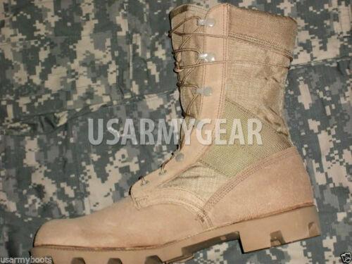 US Army Surplus Desert ACU Military Leather Canvas Jungle Panama Combat GI Boots