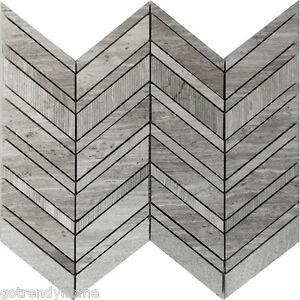 Details About 10sf Herringbone Chevron Textured Natural Stone Mosaic Tile Kitchen Backsplash