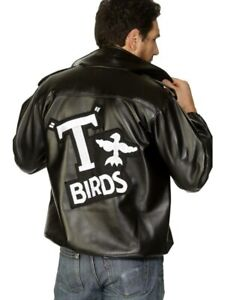 T-bird Grease 50s Large Mens Embroidered Logo Jacket Costume