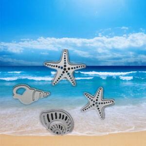 4Pcs-Sea-Star-Conch-Scrapbooking-Dies-Metal-Craft-Dies-For-Card-Making-Die-Cut