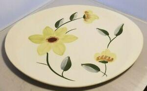 Vintage-Blue-Ridge-Pottery-Unmarked-Serving-Platter-Oval-Plate-Ceramic-Flower-W
