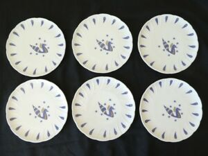 6-assiettes-en-Porcelaine-de-LIMOGES-BERNARDAUD-pour-AIR-FRANCE