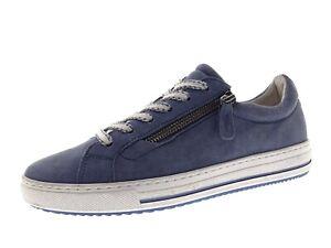 Gabor Damen Schuhe Sneaker Freizeitschuhe Laufschuhe Blau Gr 38,5 Leder