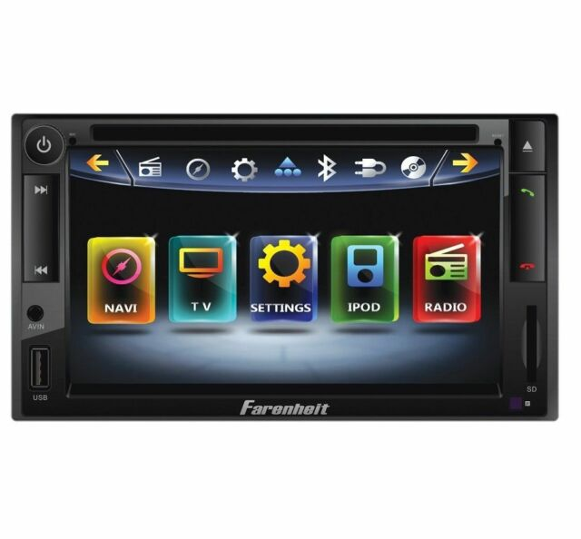 "FARENHEIT TI-652NB 6.5"" TOUCHSCREEN DVD CD MP3 BLUETOOTH USB IPOD CAR RECEIVER"
