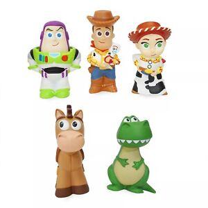 Disney Toy Story Deluxe Bath Toys 5 Figure Figurine Set Baignoire Bathtime Toy Playset