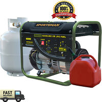 Dual Fuel Generator 2000 Watt Portable Start Propane Gasoline Camping Sportsman