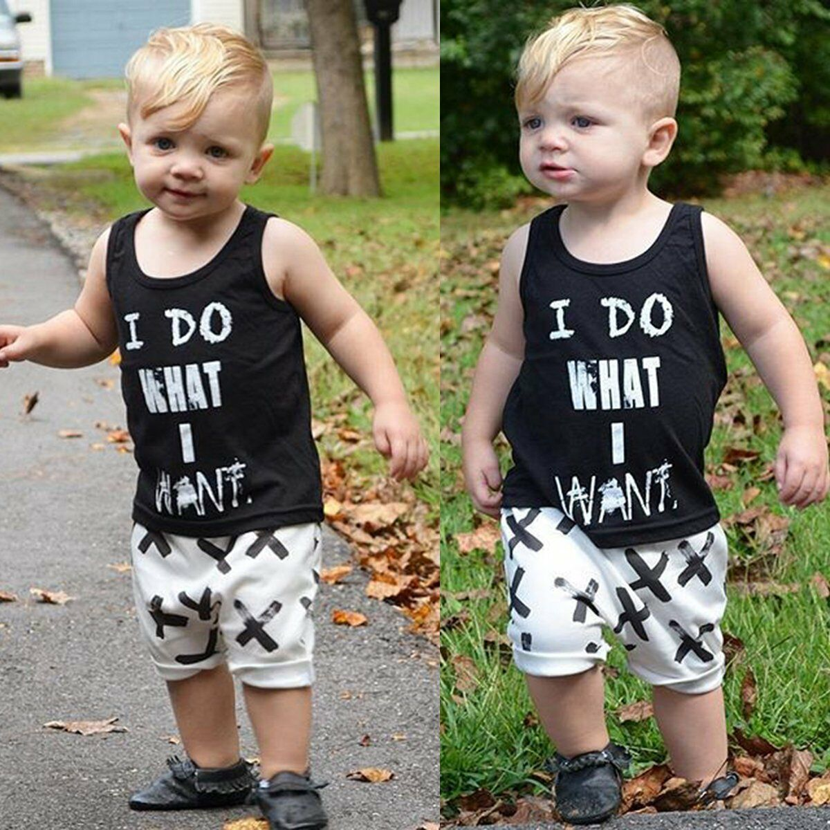 4db83ee4d 2pcs Toddler Kids Baby Boy T-shirt Tops+Pants Summer Casual Outfits ...