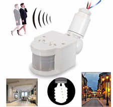 Outdoor LED Security Infrared PIR Motion Sensor Detector Wall Light Lamp Switch