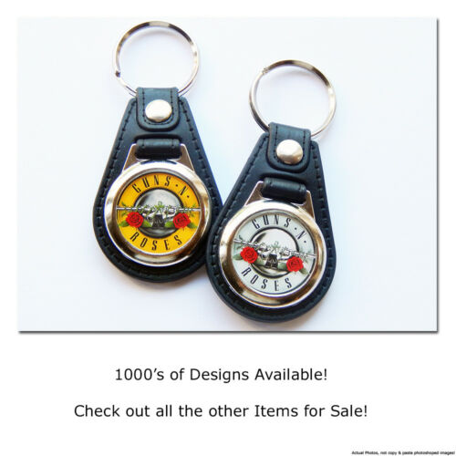 DEEP PURPLE Classic Rock Band Quality Leather and Chrome Keyring