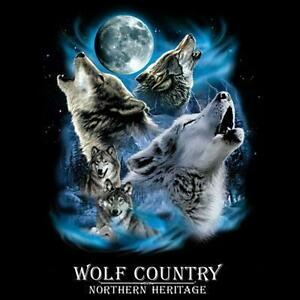 Wolf Country Northern Heritage Tee Wolves Howling At The ...