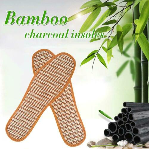 Bamboo Charcoal Linen Insoles Sport Breathable Anti-Bacterial Insole G5D5
