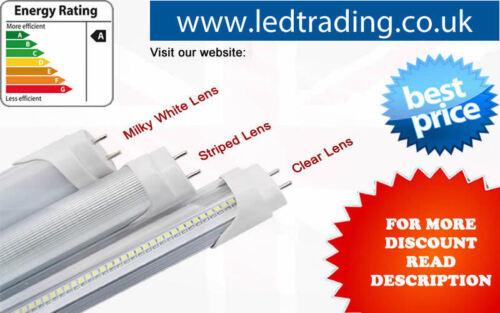 clear//milky//striped cover LED Tube light,T8,G13 8feet 6500k cool white