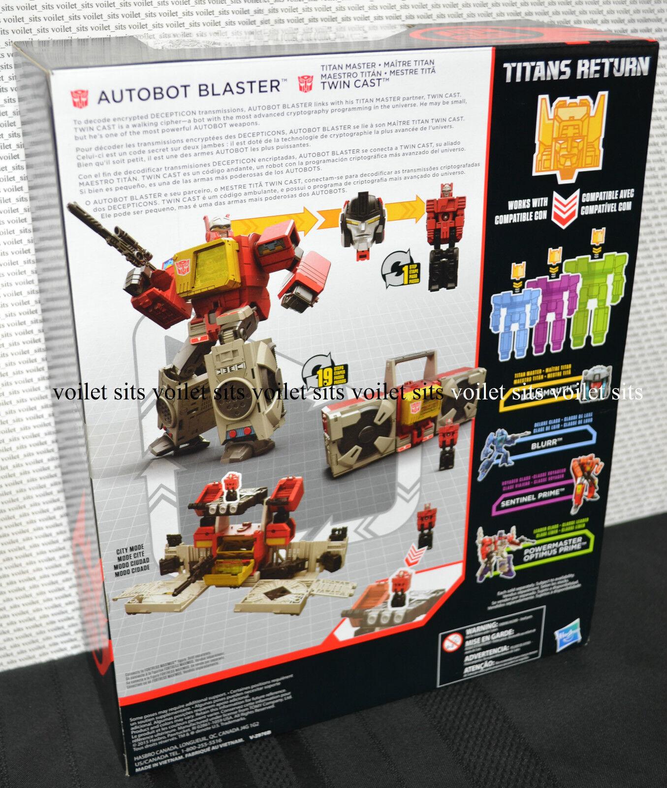 Transformers Generations Titans Return Leader Leader Leader Class Figure Autobot Blaster 84cfea