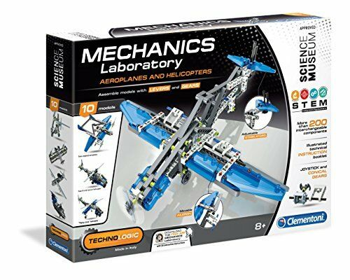 Clementoni 61326 Mechanics Laboratory Aeroplanes and Helicopters Science Kit